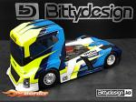 Bittydesign Iron 1/10 Truck Body Clear BDTRK-190IRO