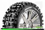 LouiseRC B-Bulldoze 1/8 Tyres Chrome Spoke Wheel Soft (2) LR-T324SBC