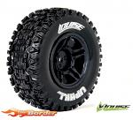 Louise RC SC-Uphill Traxxas Slash Tires - 2WD Front (4WD F/R) Wheels Soft Black Glued LR-T3223SBTR