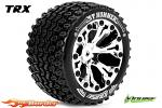 Louise RC ST-Hummer Traxxas Stampede/Rustler Tires - 2WD Rear Wheels Chrome Glued LR-T3209SC