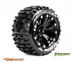 Louise RC ST-Pioneer Traxxas Stampede/Rustler Tires - 2WD Front Wheels Black Glued LR-T3227SBH