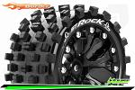 Louise RC ST-Rock Traxxas Stampede/Rustler Tires - 2WD Front/4WD F&R Wheels Black Glued LR-T3273SBH