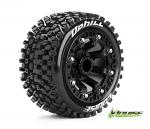 Louise RC ST-Uphill Traxxas E-Revo & Summit 1/16 Tires - Wheels Black Glued LR-T3279SB