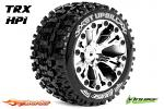 Louise RC ST-Uphill Traxxas Stampede/Rustler Tires - 2WD Front Wheels Chrome Glued LR-T3211SCH