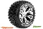 Louise RC ST-Uphill Traxxas Stampede/Rustler Tires - 2WD Rear Wheels Chrome Glued LR-T3211SC