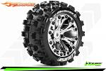 Louise RC ST-mCross Traxxas Stampede/Rustler Tires - 2WD Front/4WD F&R Wheels Chrome Glued LR-T3272SCH