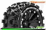 Louise RC ST-mCross Traxxas Stampede/Rustler Tires - 2WD Front/4WD F&R Wheels Black Glued LR-T3272SBH