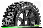 LouiseRC B-Bulldoze 1/8 Tyres Black Spoke Wheel Soft (2) LR-T324SB