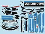 Mercedes AMG GT3 1/10 Decal Sheet - Blue BRPD1526