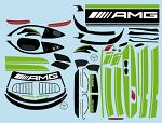 Mercedes AMG GT3 1/10 Decal Sheet - Green BRPD1525
