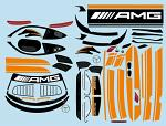 Mercedes AMG GT3 1/10 Decal Sheet - Orange BRPD1523