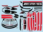 Mercedes AMG GT3 1/10 Decal Sheet - Red BRPD1524