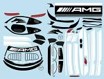 Mercedes AMG GT3 1/10 Decal Sheet - White BRPD1522