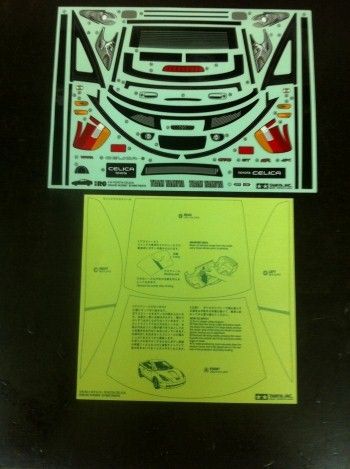 TAMIYA Decal Sheet Vintage Toyota Celica 58248