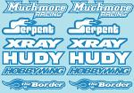 RC Brands Decal Sheet - A5 Size - Blue BRPD1017