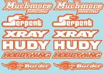 RC Brands Decal Sheet - A5 Size - Orange BRPD1016