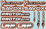 RC Brands Decal Sheet 2 - A5 Size - Orange BRPD1021