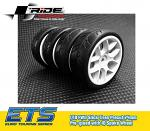 RIDE 1/10 FF Class ETS 2020 Preglued Slick Tyres - White 10-Spoke Wheel RI-26072