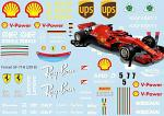Ferrari SF-71H (2018) Decal Sheet F1 BRPD1359