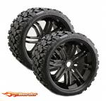 Sweep Racing Terrain Crusher 1/4 Offset 17mm hex wheels Black (2) SRC0002B