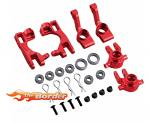 BRP Rustler Aluminium Red upgrade Set Front & Rear incl. Bearings