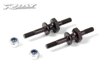 XRAY Steel Screw Shock Pivot Ball with Hex (2) 358047