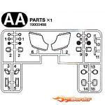 Tamiya AA Parts Lenses Mercedes Actros 19000498