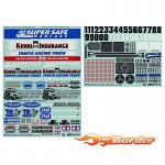 Tamiya Marking Stickers for 1/14 Truck 54844