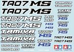 Tamiya TA07 MS Decal Sheet BRPD1029