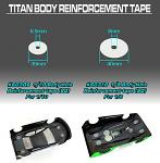 Team TiTan 1/8 Body Hole Reinforcement Tape (20) 60310