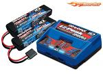 Traxxas 4S LiPo & Charger Combo 2x 7600mAh 2S Battery/Charger Complete Pack 2991