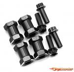 Traxxas Alu Hex Adapter 20mm Offset for 12mm Hex Wheels - 4pcs WA-024BK