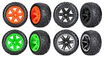 """Traxxas Anaconda Tires & Wheels Assembled Glued (2.8"""") (4WD Front/Rear, 2WD Front) 6775"""