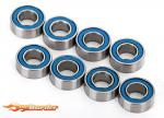 Traxxas Ball Bearings Blue Rubber Sealed 4x8x3mm (8) 7019R