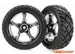 Traxxas Preglued Wheels & Tyres (Tracer 2.2 Chrome, assembled and glued) (front) (2) 2479R