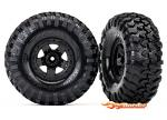 Traxxas Tires and wheels assembled glued (TRX-4 Sport wheels Canyon Trail 2.2 tires) (2) 8181