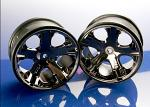 Traxxas Wheels All Star 2.8 Black Chrome Rustler Stampede 3772A