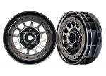 Traxxas Wheels, Method 105 1.9' (black chrome, beadlock) (beadlock rings sold separately 8173