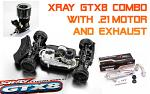 XRAY GTX8 + .21 Alpha A852 Motor + Exhaust Discount Combo - 1/8 Nitro On-Road GT Car 350500