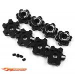 Yeah Racing Alu 7075 17mm Wheel Hex Set For Traxxas Maxx Black TRMA-001BK
