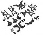 Yeah Racing Alu Conversion Kit for Tamiya TT02B Buggy Black TATT-S01BK