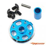 Yeah Racing Alu Spur Gear Adapter Set for Tamiya TT-02 TATT-026BU