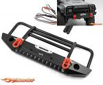 Yeah Racing Alu. Front Bumper w/LED Light For TRAXXAS TRX4-032BK