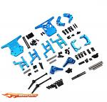 Yeah Racing Aluminum Performance Upgrade Kit For Tamiya WR02CB Blue TAWR-S02BU