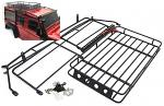 Yeah Racing Metal Roll Cage w/ Luggage Tray & Super Bright LED Light Bar For Traxxas TRX-4 TRX4-051