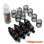 Yeah Racing Qutus Big Bore Damper Set for Touring Car & M-Chassis 50mm Black DBB-2050BK