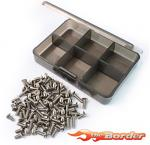 Yeah Racing Titanium Screw Set w/FREE Mini Box for Tamiya TT-02 TS-TT02