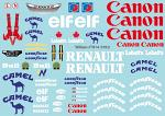 Wil. FW14 (1992) F1 Decal Sheet for 1/10 BRPD1321