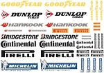 Tyre Brands Decal Sheet for 1/10 BRPD1004