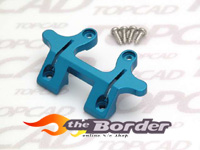 Top cad front alloy upper bulkhead blue 10130
